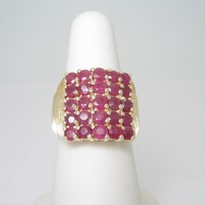 Jewelry - 14K Solid Gold 2ctw Natural Ruby Ring | Size 6